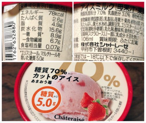 シャトレーゼ糖質オフダイエット
